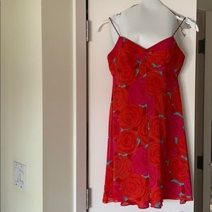 Kay Unger silk cocktail dress and scarf size 6